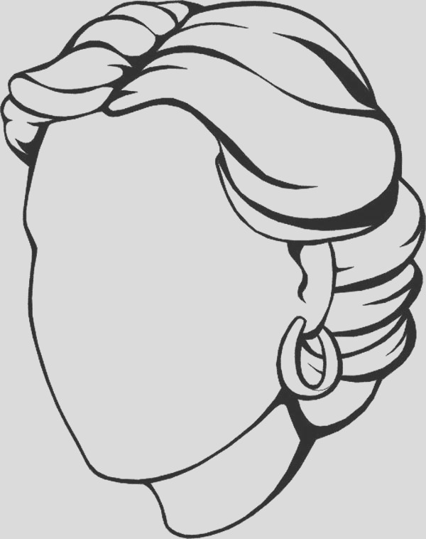 blank face coloring page