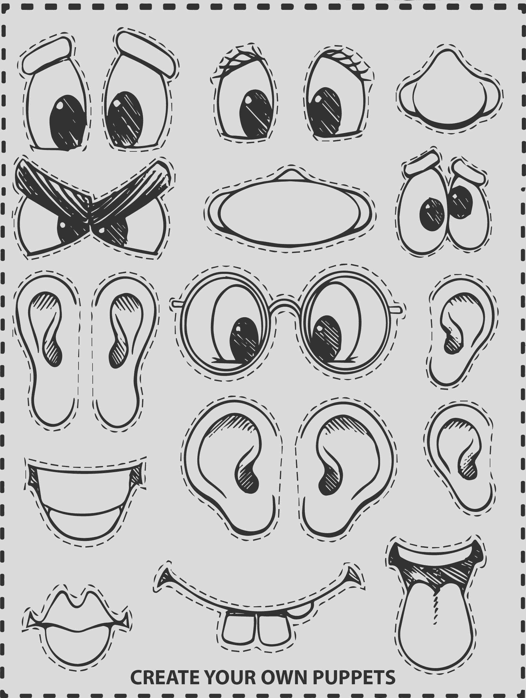 create face coloring page