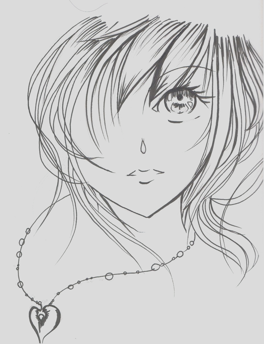 girl face coloring pages