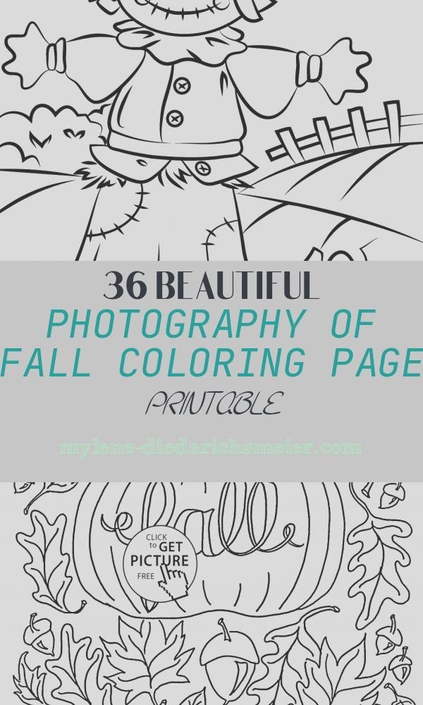 Fall Coloring Page Printable Elegant Autumn Scene with Scarecrow Coloring Page
