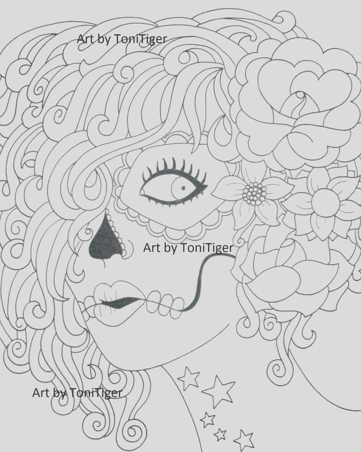 instant digital coloring page