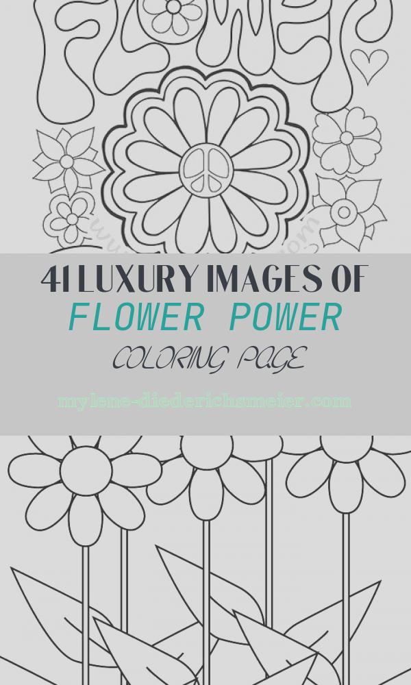 Flower Power Coloring Page Awesome Peace and Love Coloring Book by Thaneeya Mcardle