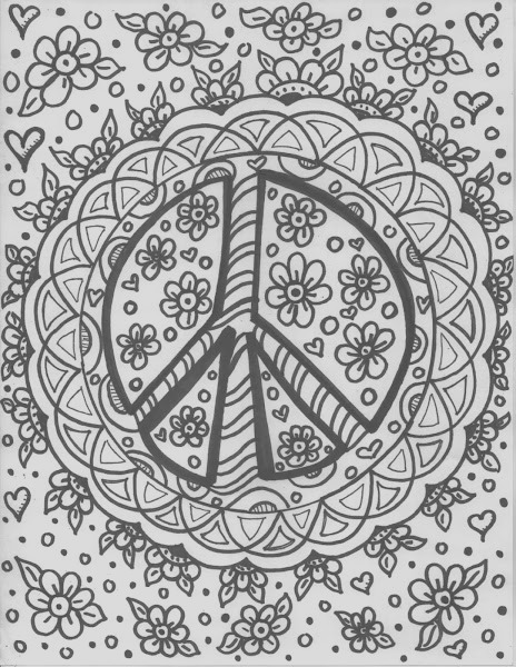 hippie sun coloring pages