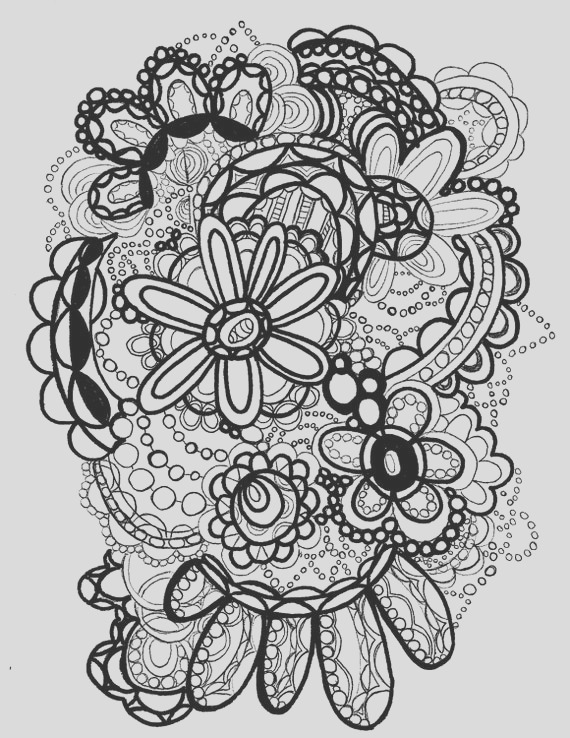 flower power coloring page