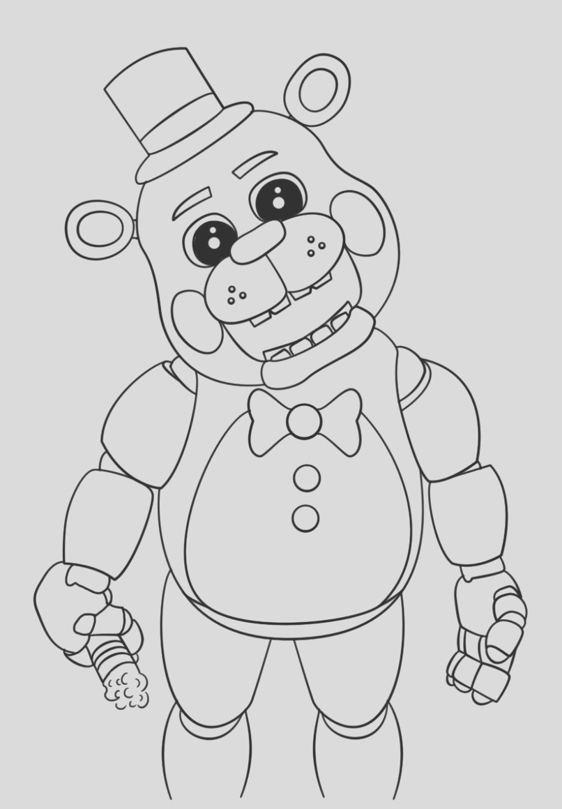 draw nightmare freddy fazbear five nights at freddys fnaf coloring pages foxy s