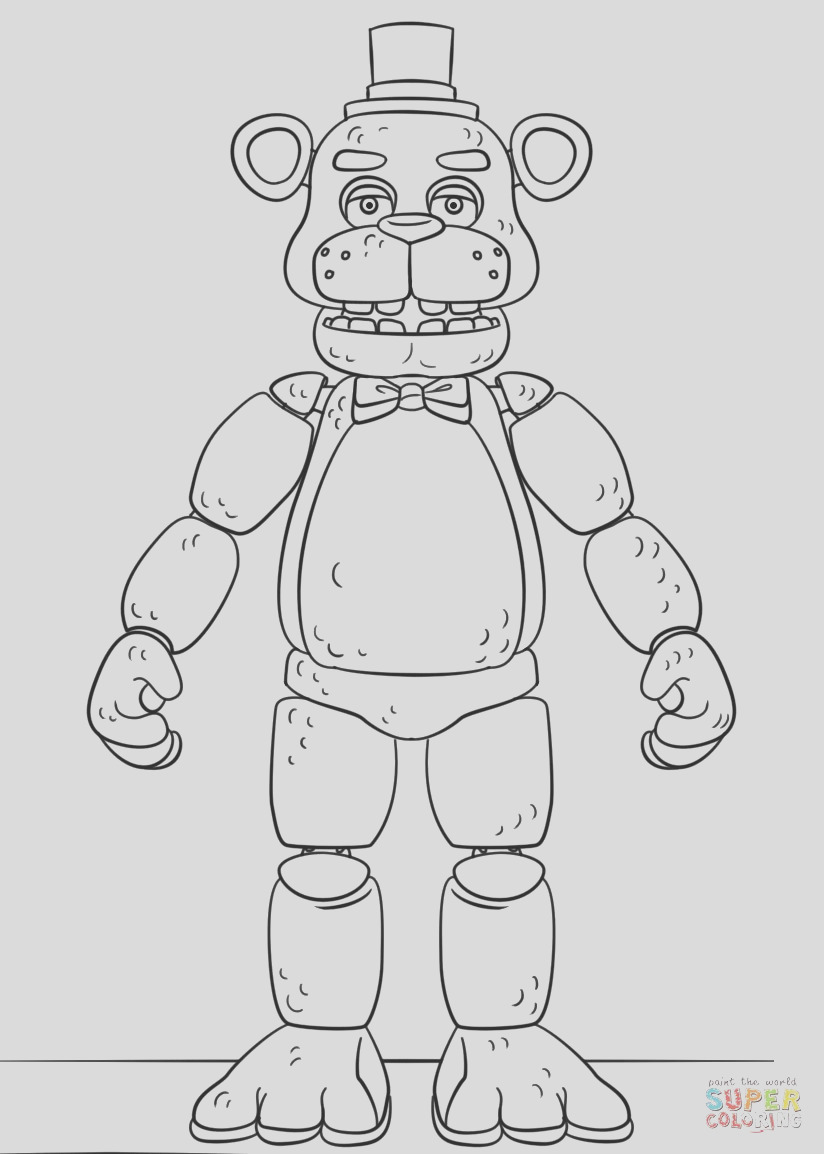 unlimited five nights at freddy s coloring pages foxy freddysaf toy chica nightmare bonnie 1024x851 page