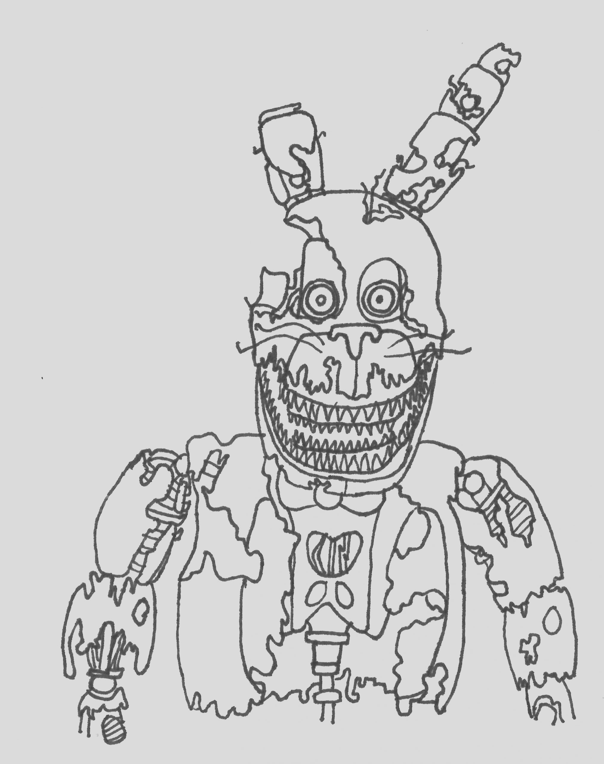 nightmare chica pages mobile sketch templates