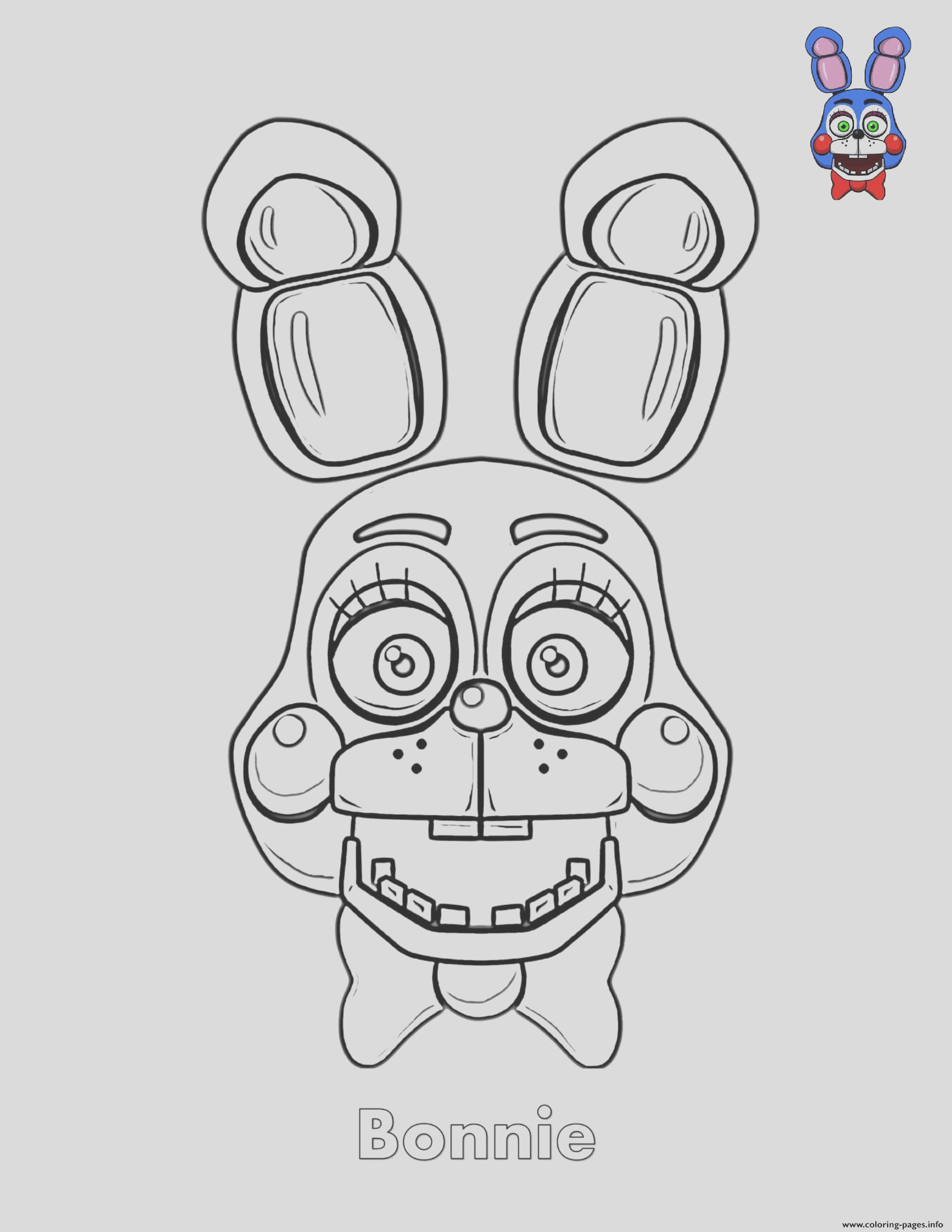 bonnie face fnaf printable coloring pages book