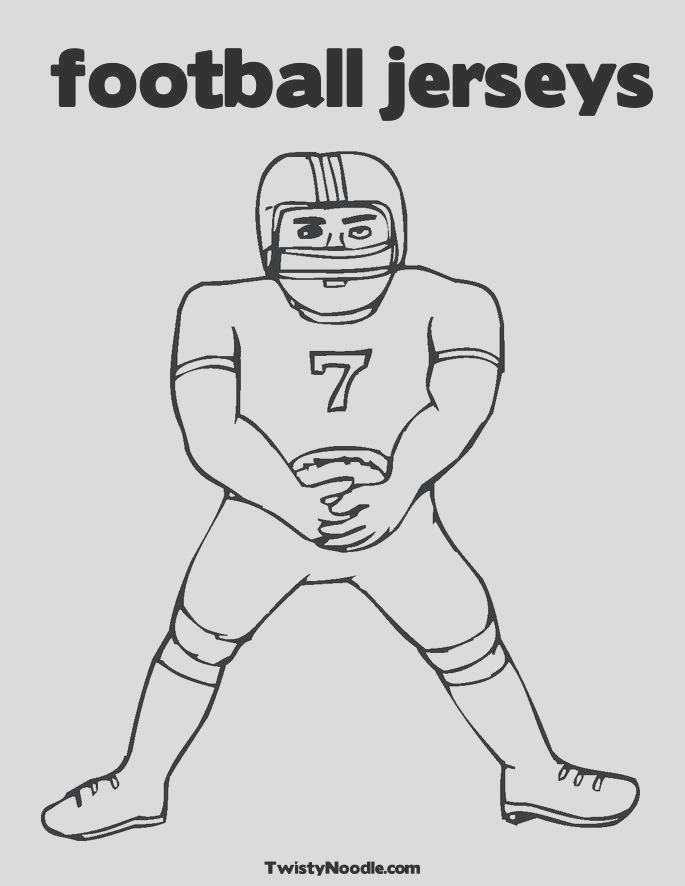 football jersey page sketch templates