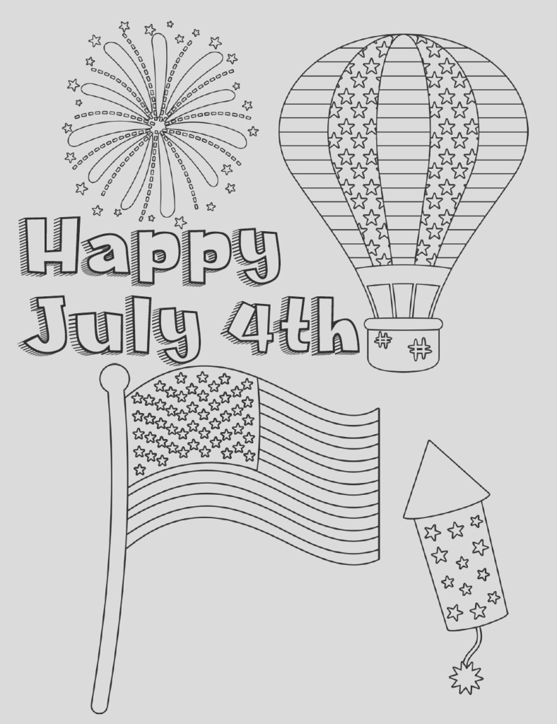 free printable fourth of july coloring pages