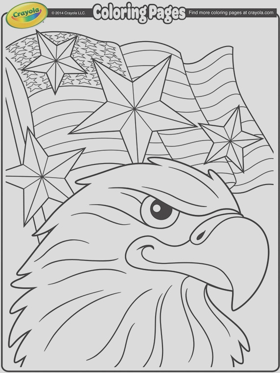 independence day eagle coloring page