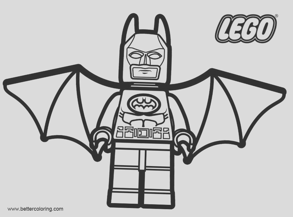 marvel batman from lego superhero coloring pages