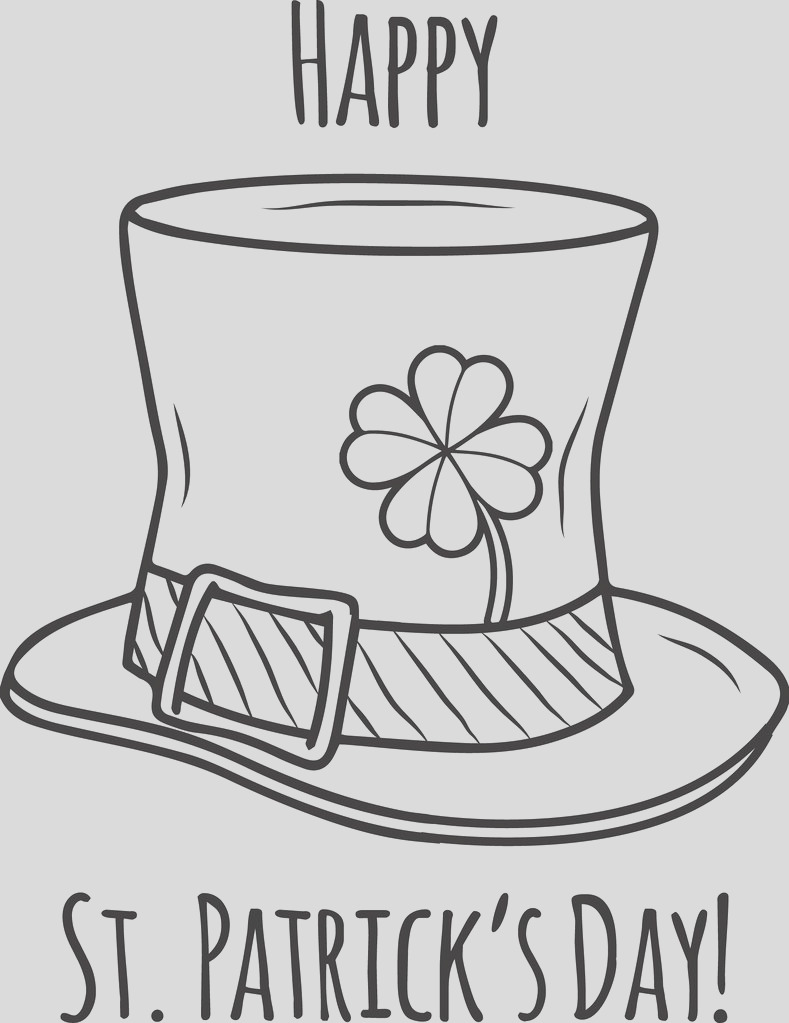 happy st patricks day coloring page a4493