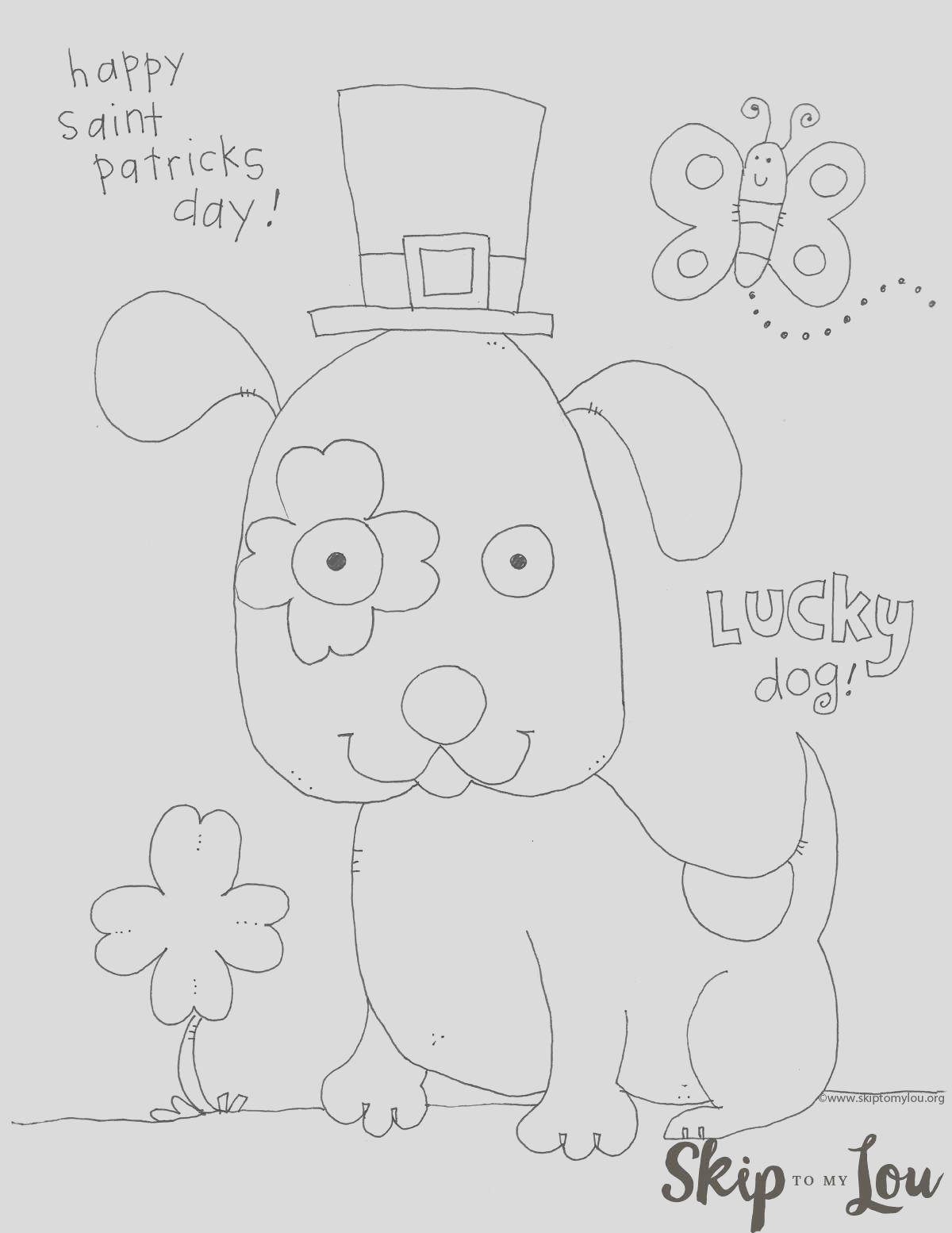 st patricks day coloring page preschoolers