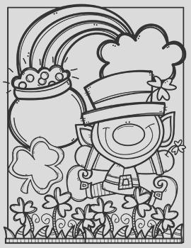 FREE St Patricks Day Coloring Pages Made by Creative Clips Clipart