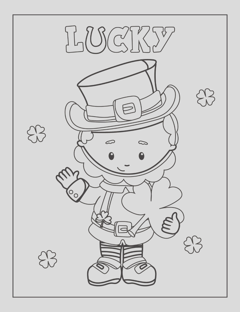 st patricks day coloring pages