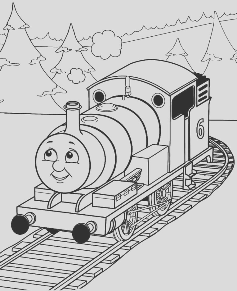 free thomas the train coloring pages to print
