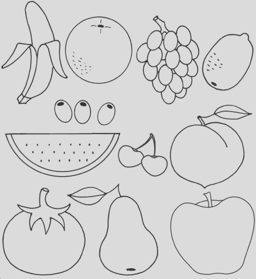 printable fruit coloring pages online