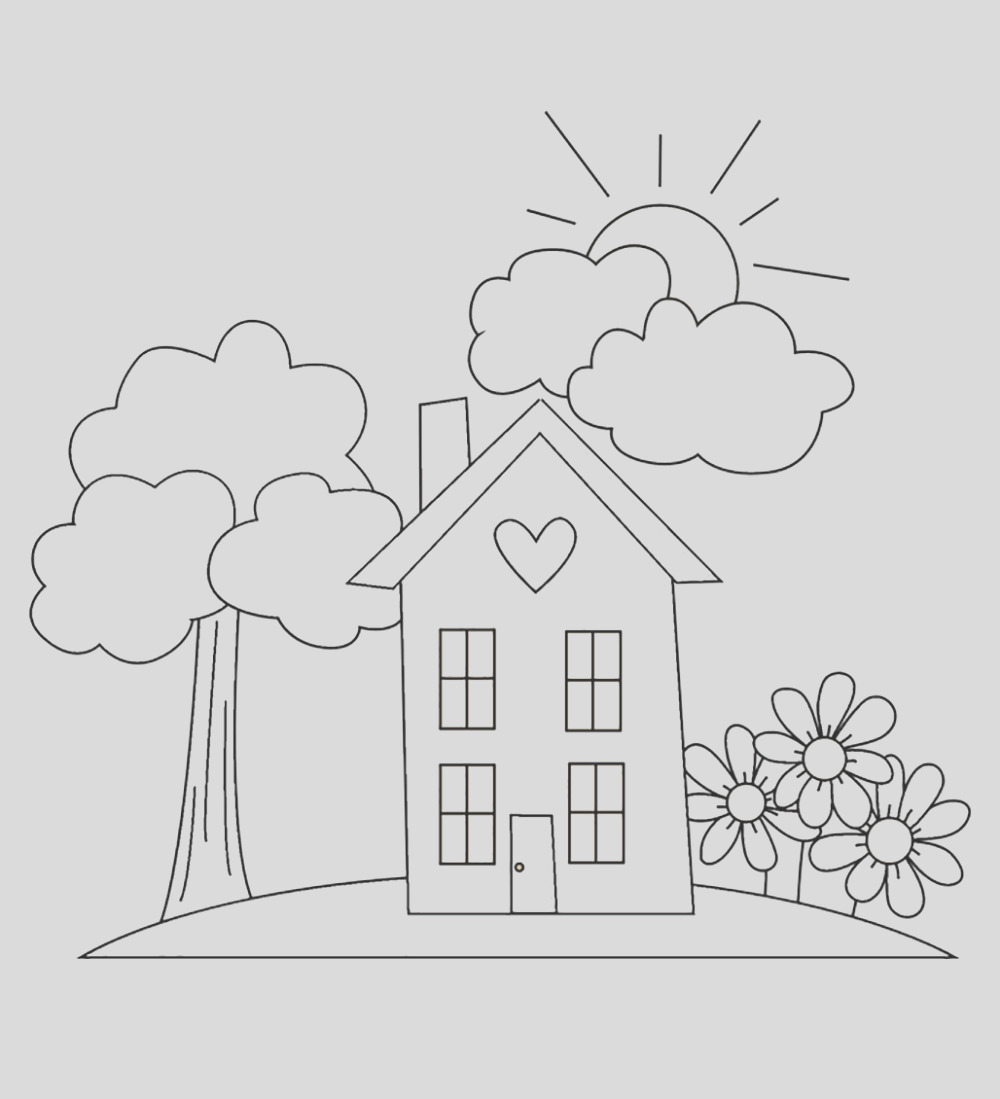 garden coloring page images for kids