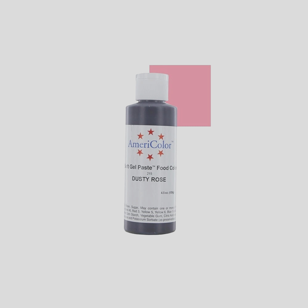 americolor dusty rose soft gel paste food icing buttercream colouring pp1930