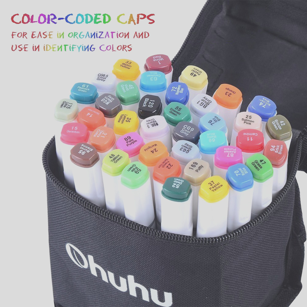 ohuhu dual tip art sketch markers 40 colors makes great highlighters too