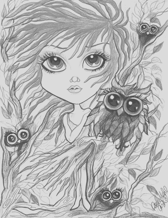 adult coloring page grayscale page
