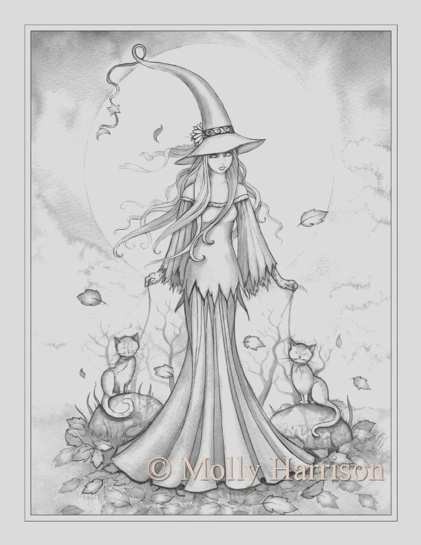 grayscale coloring pages to print