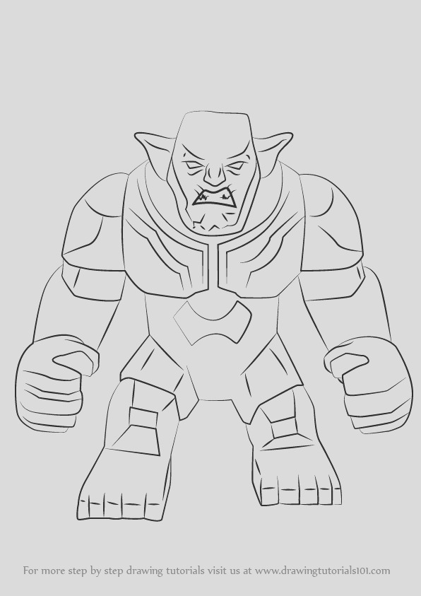 how to draw lego green goblin