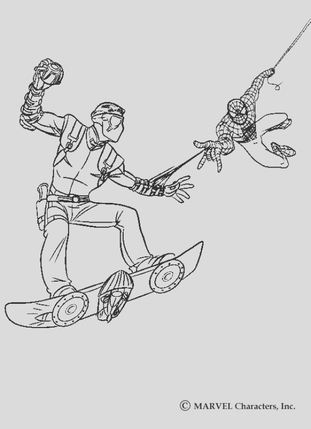 spiderman green goblin coloring pages