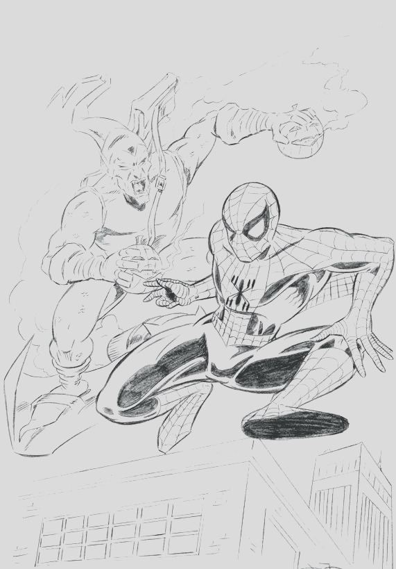 green goblin coloring page