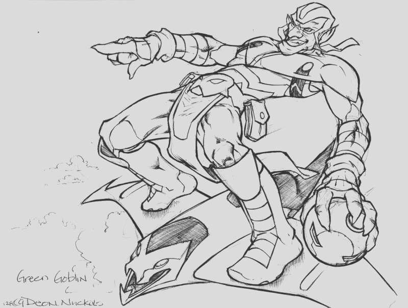 green goblin coloring pages free