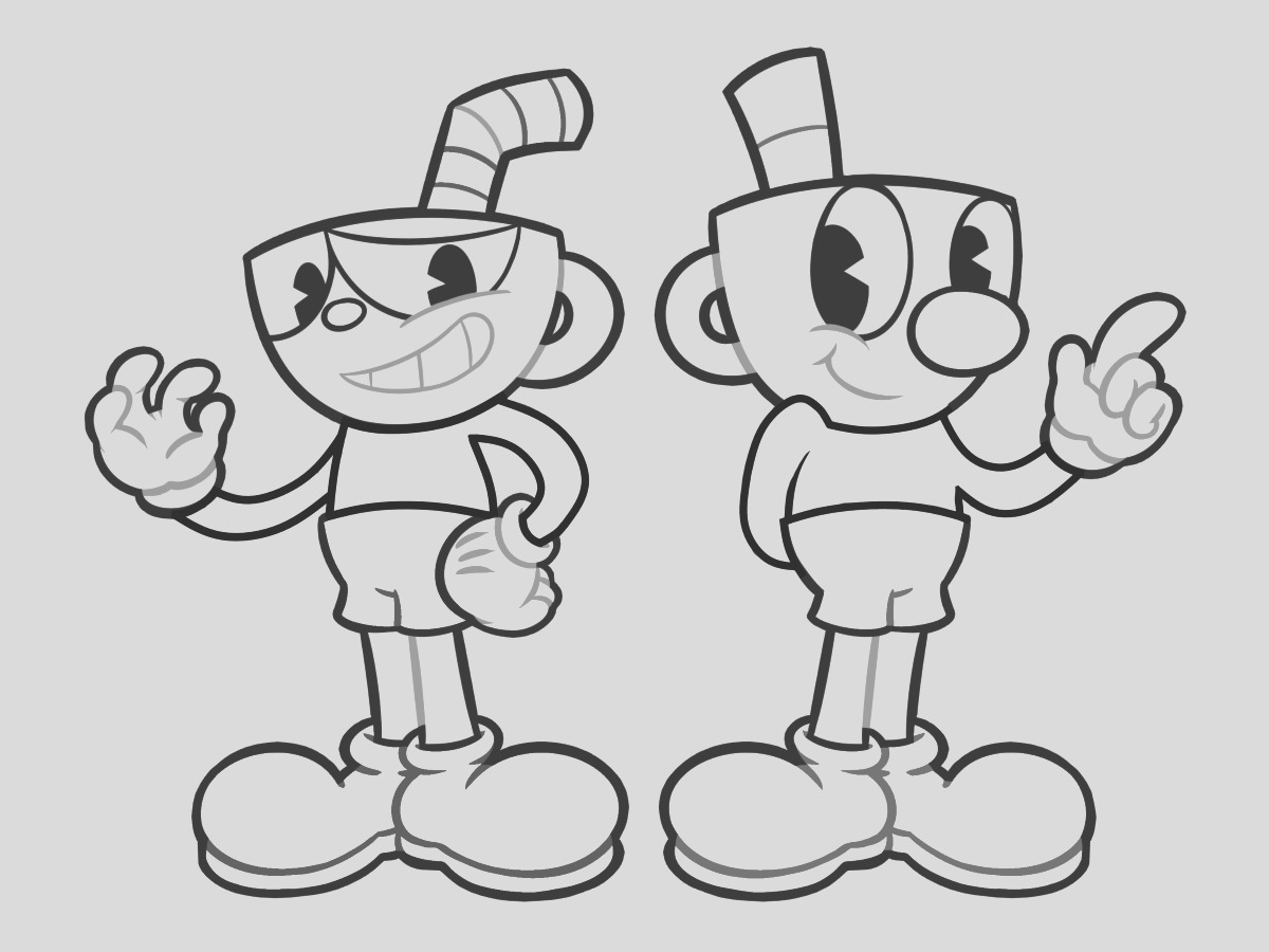 cuphead coloring pages