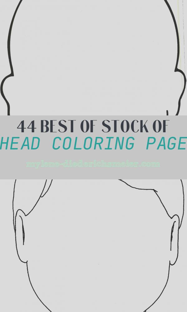 Head Coloring Page Luxury Blank Head Coloring Page Clipart Best