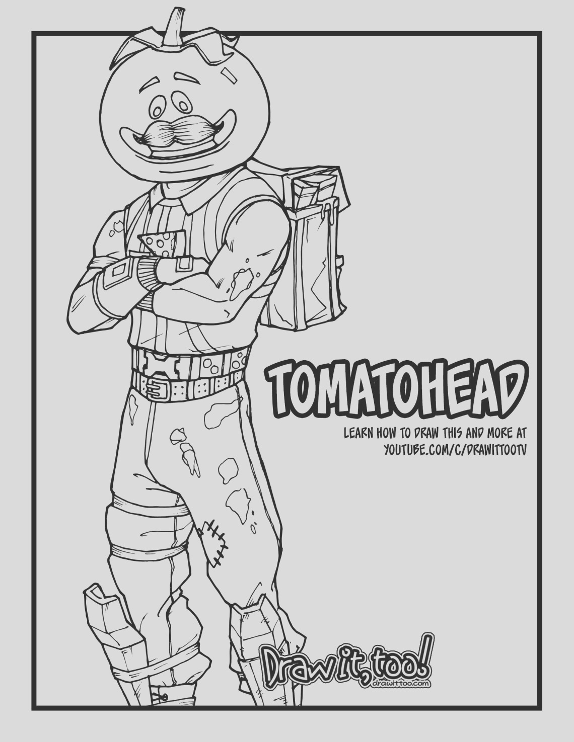 how to draw tomatohead fortnite battle royale drawing tutorial