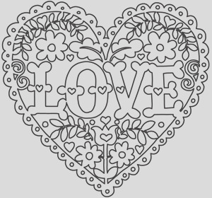 love and flowers heart