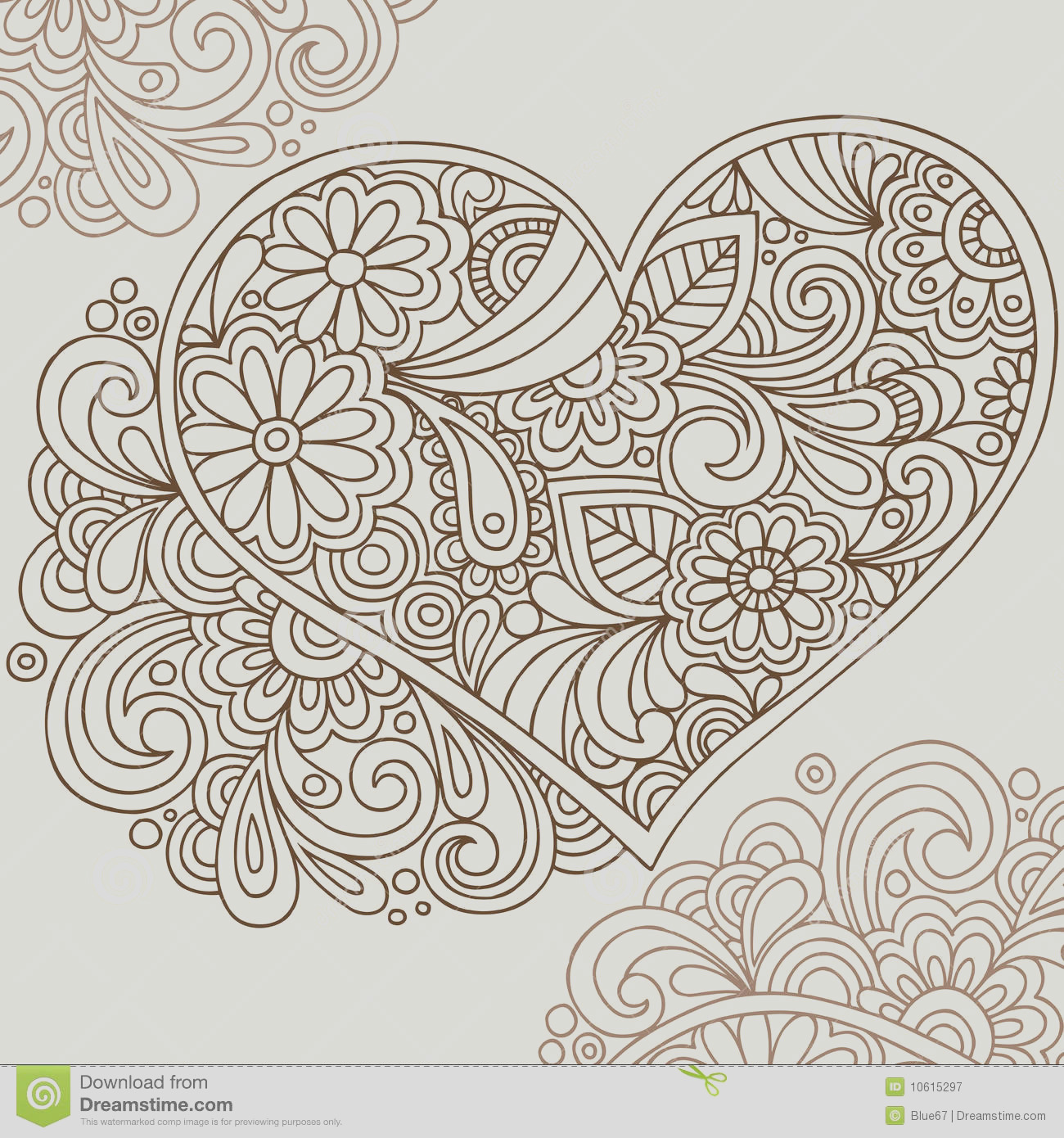 royalty free stock photography doodle henna heart vector image