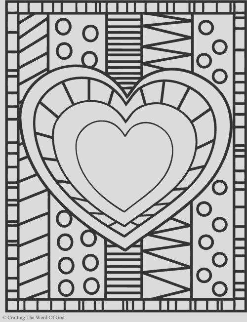heart coloring page