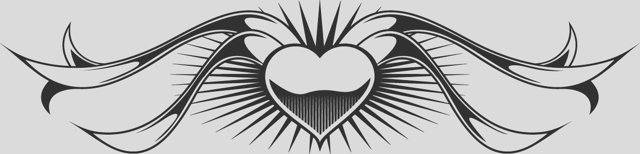 heart and ribbon tattoo designs