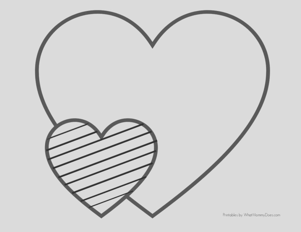 easy heart coloring pages kids