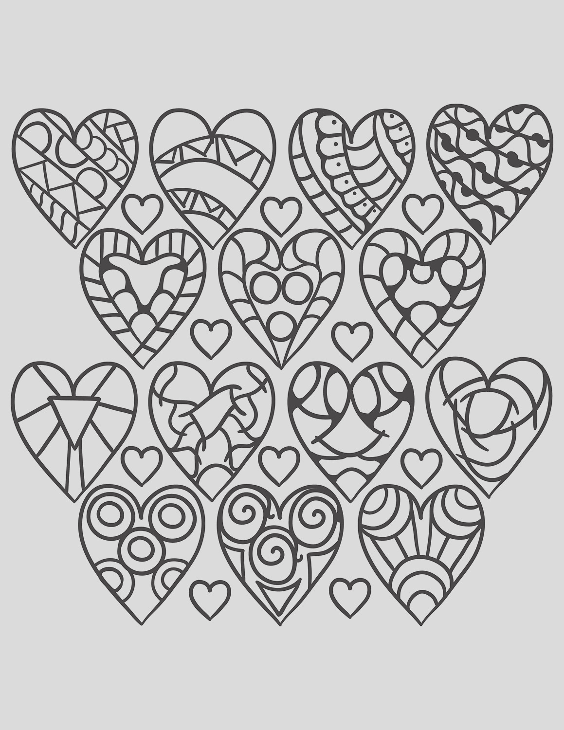 hearts coloring pages for adults