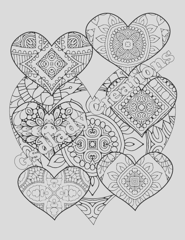 zentangle coloring page heart pattern