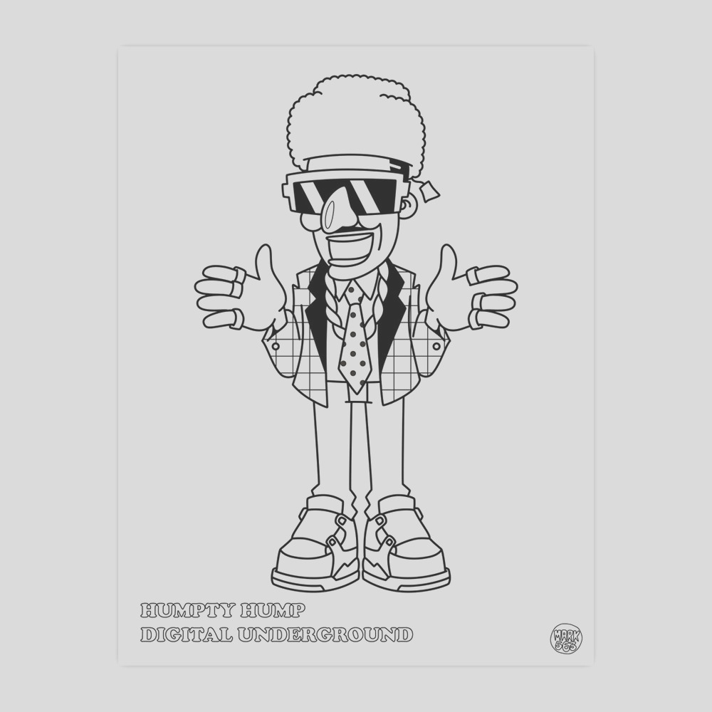 hiphop coloring book