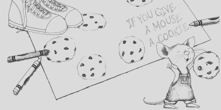 If You Give A Mouse A Cookie Coloring Page part 3
