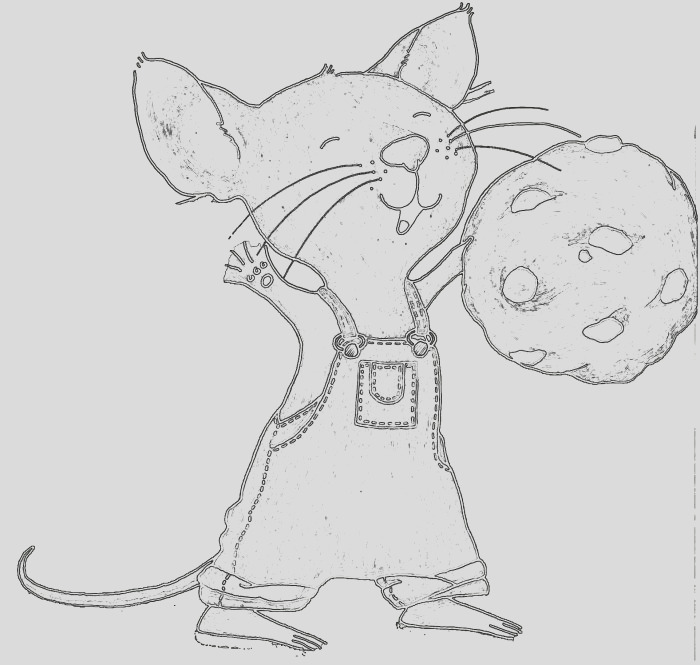 If You Give A Mouse A Cookie Coloring Page part 1