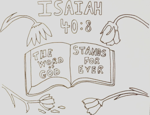 scripture and a picture how we learn that the word of god stands forever