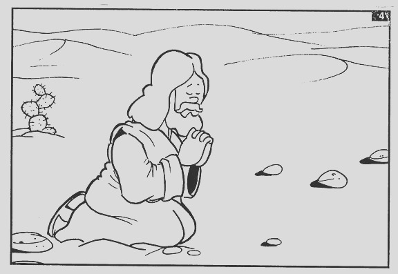 jesus is tempted coloring page