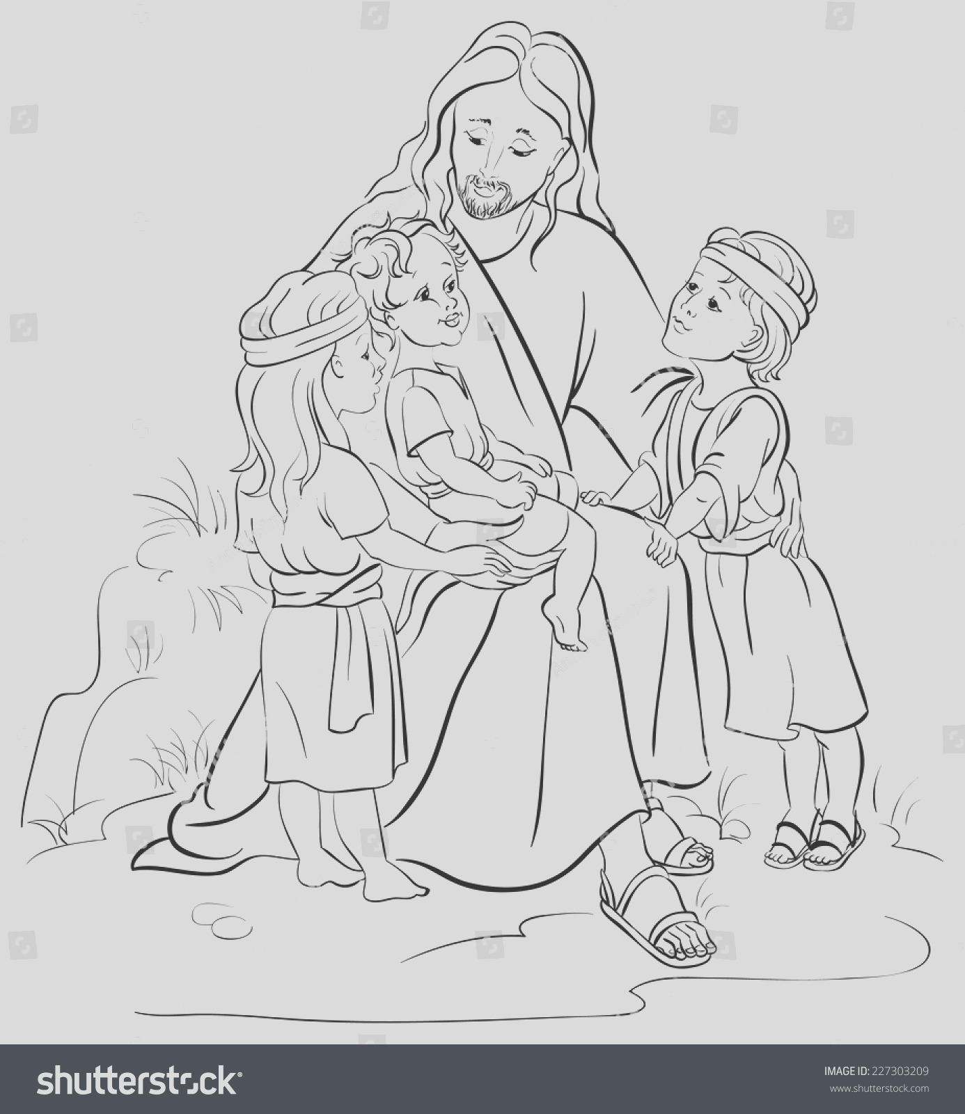 bible story jesus children coloring page