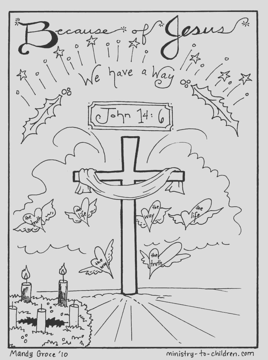 christmas coloring sheets jesus is our way