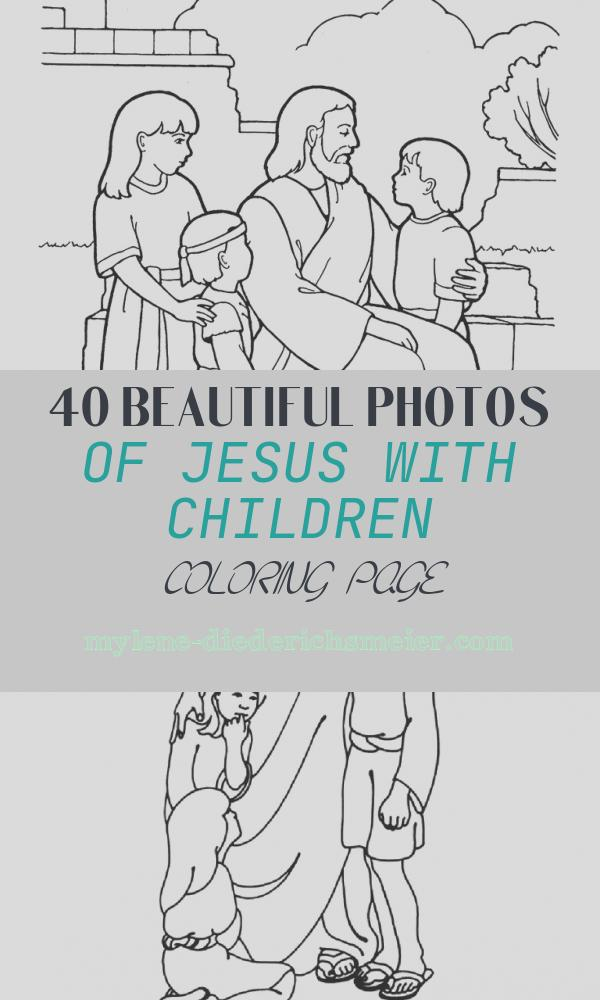 Jesus with Children Coloring Page Elegant Christ Blessing the Children