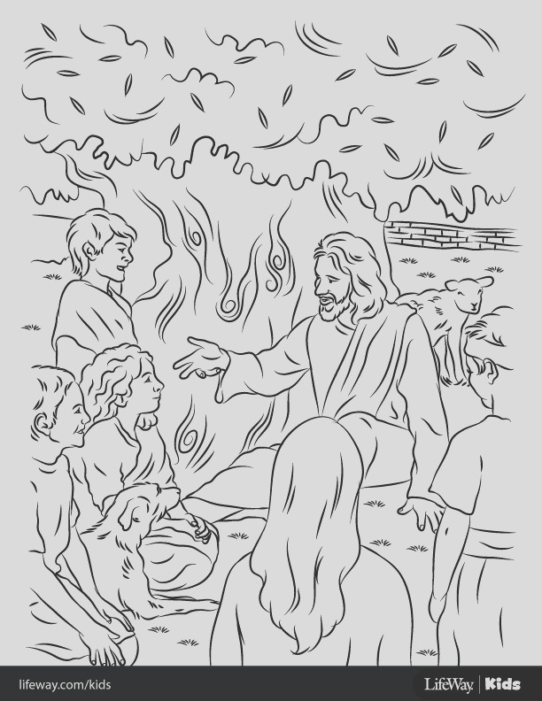 free coloring sheet jesus loved the children